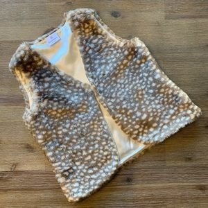 New w/out tags Girls Hanna Andersson Faux Fur Vest